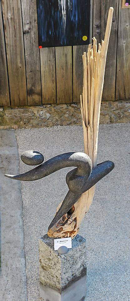 Sculpture en pierre reconstituée ressourcement