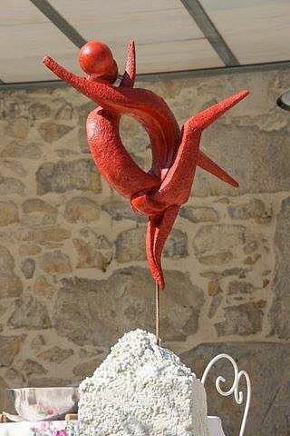 Sculpture en terre cuite retrouvailles